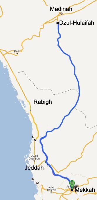 Peta Jalur Mekkah Madinah