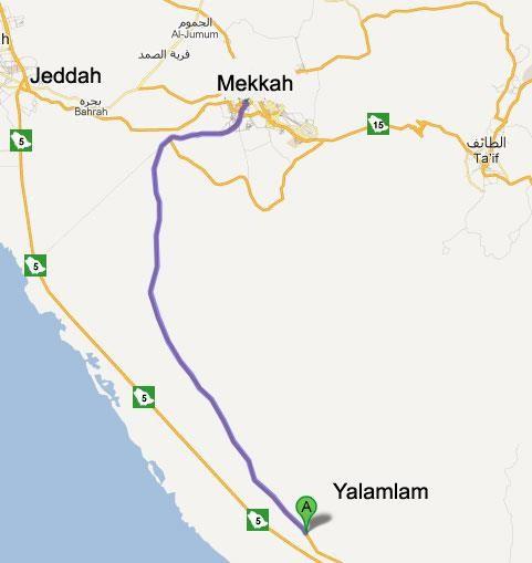 Peta Yalamlam Mekkah