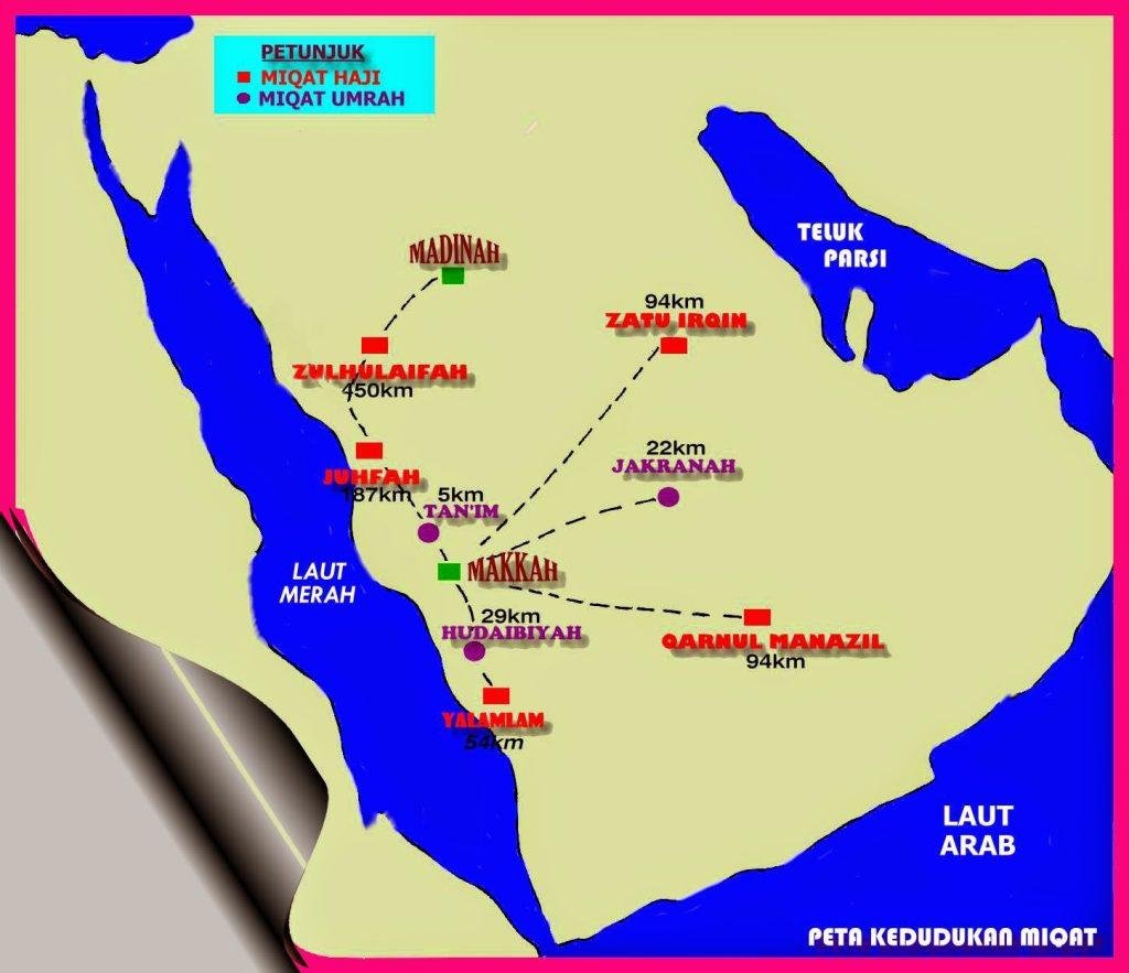 Tempat tempat miqat haji umroh
